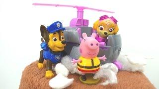 Игрушки Щенячий патруль и Peppa Pig!  Видео Свинка Пеппа: 🐷 Джордж провалился в ущелье!