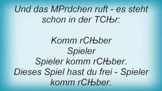 Achim Reichel - Der Spieler Lyrics