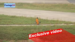 """Bird Shooter"" at Dhaka airport runway for aircraft safety।। Footage 24"