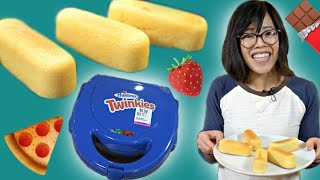 THRIFT STORE TWINKIES Maker - Homemade Custom Twinkies 🍕🍓🍫Will It Work?