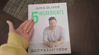 Jamie Oliver 5 Ingredients Quick & Easy Food Recipe Book Cookbook Review Flip Through