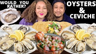 RAW OYSTERS & SHRIMP CEVICHE MUKBANG  SEAFOOD MUKBANG  EATING SOUNDS  @Big Guy Appetite