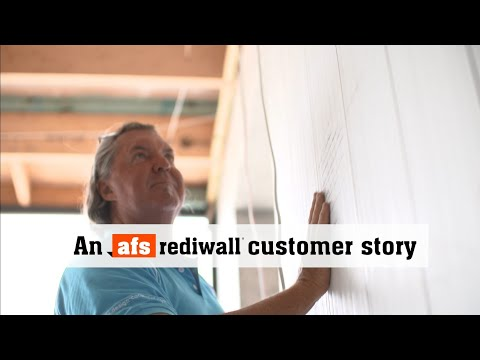 Builder testimonial, Paul Lingard, afs rediwall®