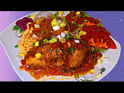 Свиное мясо под красным соусом Греческое блюдо кокинисто
