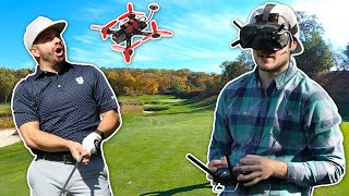 EPIC FPV DRONE GOLF FOOTAGE | Chasing the Golf Ball with an FPV Drone