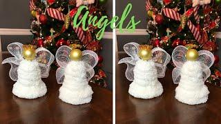 Dollar Tree Angel Christmas Ornaments Decoration DIY