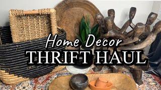 Thrift HOME DECOR Haul 2020   BOHO + Mid-Century Modern