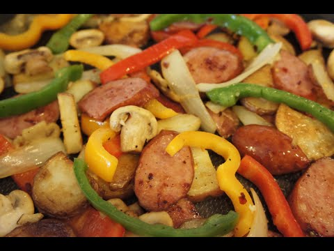 Video How to make a Polish Sausage Skillet with Vegetables - 99 CENTS ONLY store recipe