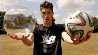 TESTING A GLASS FOOTBALL!!