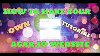 How To Make An Agar.io Website - Tutorial