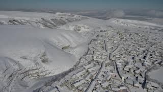 Февраль , полет дрона в -10 , квадрокоптер xiaomi mi drone 4k, верхний Каранай ,зима в горах