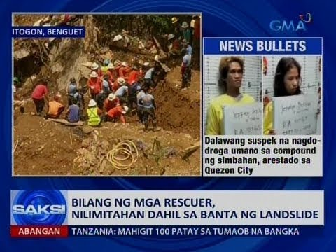 [GMA]  Saksi: Bilang ng mga rescuer, nilimitahan dahil sa banta ng landslide