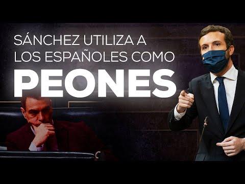 Sánchez utiliza a los españoles como peones