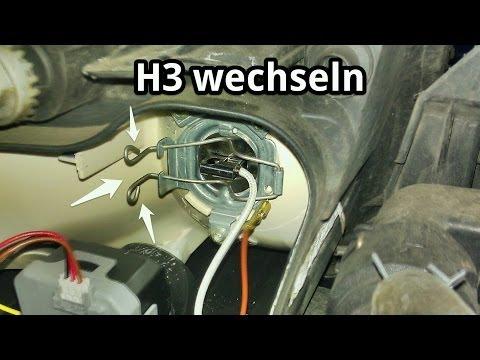 Hauptscheinwerfer H3 Lampe wechseln für Fernlicht bei VW Skoda Seat