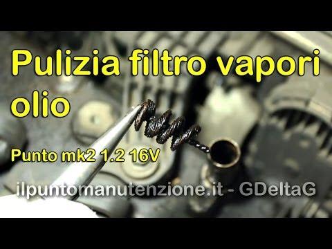 Pulizia filtro recupero vapori olio punto mk2 1.2 16V