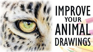 Tips For Drawing REALISTIC ANIMALS | Get Better With Colored Pencil