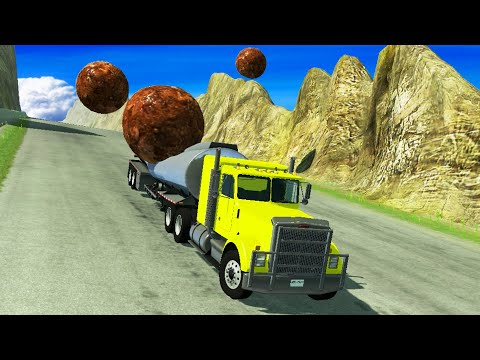 Cars against GIANT Cannon Balls - BeamNG Drive | CrashTherapy