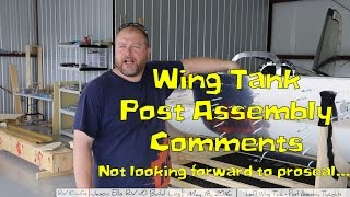 RV-10 Wings - 022 - Left wing post assembly thoughts and comments