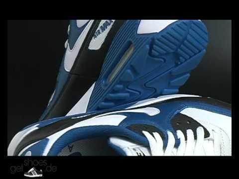 Nike Air Max 90 Premium Weiß/Blau/Schwarz bei getshoes.de