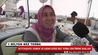 Konya Büyükşehir, 1 milyon bez torbayı kendi atölyelerinde üretiyor