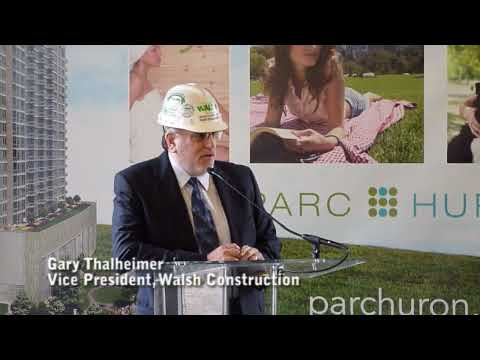 Topping off Parc Huron