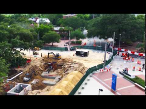 Tilt-shift construction: Gale Lemerand Drive at University of Florida
