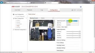 How to set video and image settings on a Hikvision DVR or NVR using a web browser