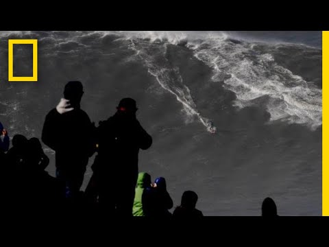 Watch Surfer Ride Record-Breaking Wave | National Geographic