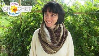 Hot Chocolate Infinity Scarf - Crochet Pattern & Tutorial - Adults & Children Sizes