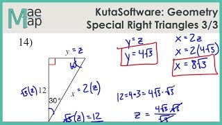 KutaSoftware: Geometry- Special Right Triangles Part 3