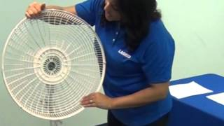 How to Assemble a Lasko® Pedestal Stand Fan in Minutes with No Tools!