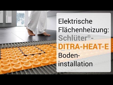 Elektrische Flächenheizung: Schlüter-DITRA-HEAT-E Bodeninstallation