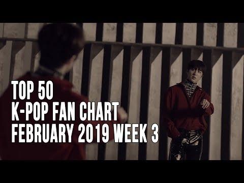Top 50 K-Pop Songs Chart - February 2019 Week 3 Fan Chart