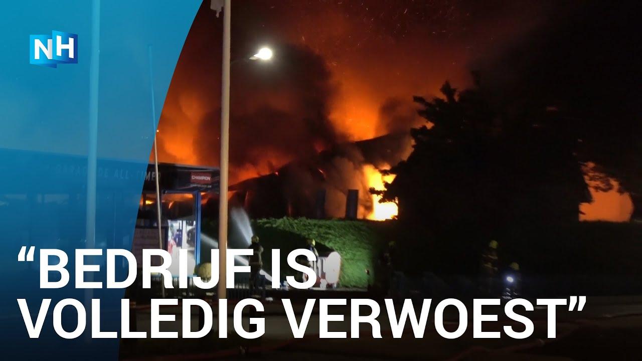Grote uitslaande brand bij bedrijf Grootebroek