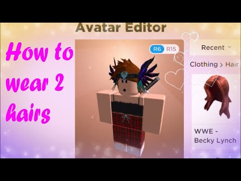 How Do You Wear Two Hairs In Roblox لم يسبق له مثيل الصور Tier3 Xyz