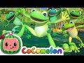 Five Little Speckled Frogs | CoComelon Nursery Rhymes & Kids Songs
