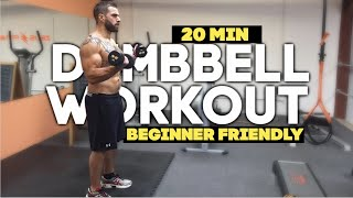 20 Minute Full Body Toning Home Dumbbell Workout by TheZeusFitness
