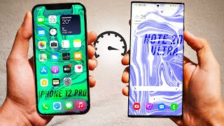 Apple iPhone 12 Pro vs Samsung Galaxy Note20 Ultra - Speed Test