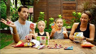 The Swedish Family try Indian candy