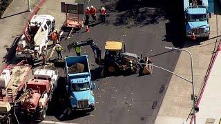 RAW: Chopper 5 Video Of Scene Of Richmond Gas Leak