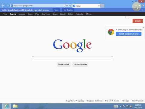 Change Default Search engine to Google in Windows 8 Internet Explorer 10