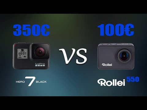 GoPro Hero7 Black VS Rollei 550 Touch (RU/ENG)