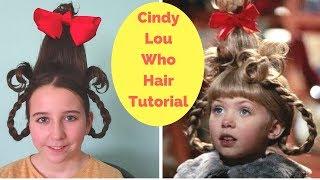 Cindy Lou Who Hair Tutorial - Easy Halloween Hairstyle