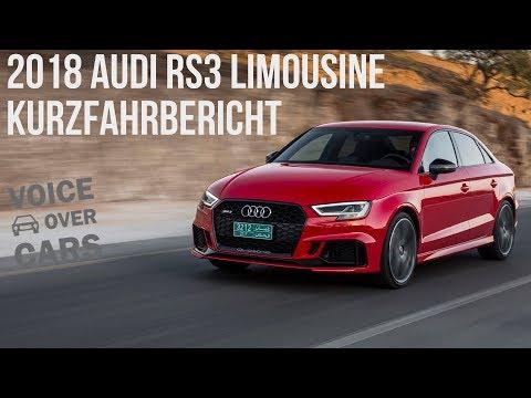 2018 Audi RS3 Limousine Fahrbericht Test Probefahrt Voice over Cars Review
