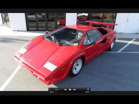 1988 Lamborghini Countach 5000 Quattrovalvole In-Depth Review