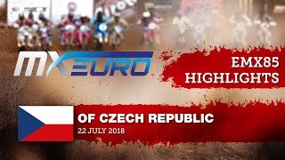 EMX85 Race1 Highlights - Round of Czech Republic 2018 #motocross