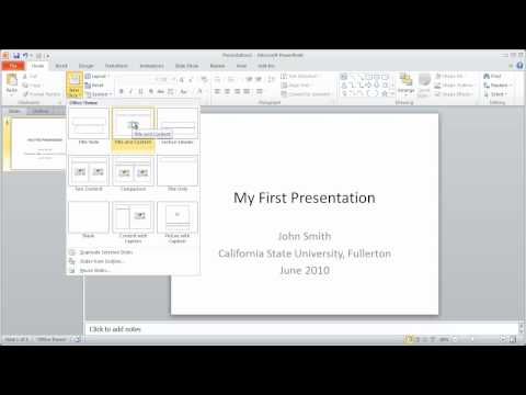 1 – PowerPoint 2010 Crash Course