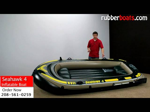 Intex Seahawk 4 Inflatable Fishing Boat Video Review by Rubber Boats