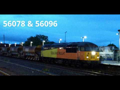 Colas Rail 56078 & 56096 passing through Rhyl with an engine…