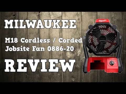 Milwaukee M18 Corded / Cordless Jobsite Fan 0886-20 Review